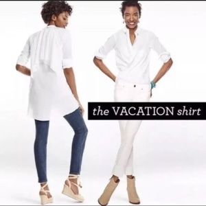 CAbi Love Carol Vacation White Button Down Shirt